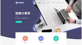 武汉网站设计-财务小帮手网站案例
