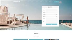 温州恒鑫休闲度假酒店案例-武汉网站开发与设计